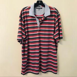Greg Norman Multi Striped Performance  Polo Shirt